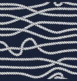 marine rope line seamless pattern vector image