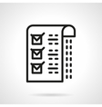 Medical checklist black line icon vector image vector image