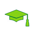 mortar board or graduation cap education symbol vector image vector image