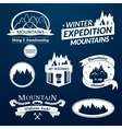 Mountain logo and label set vector image vector image
