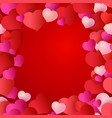 pattern with red hearts for wedding cards vector image vector image