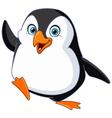 penguin waving vector image vector image