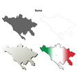 Rome blank detailed outline map set vector image vector image