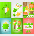 set posters for patricks day vector image vector image