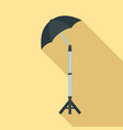 shadow camera umbrella icon flat style vector image vector image