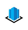 skyscraper logo business finance logo vector image vector image