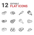 steak icons vector image vector image