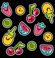 summer fruits patterns vector image vector image