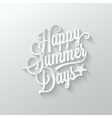 summer paper cut lettering background vector image