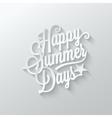 summer paper cut lettering background vector image