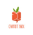template logo design abstract icon carrot vector image vector image