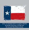texan flag flat - artistic brush strokes vector image vector image