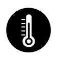 thermometer icon design vector image