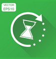 time sandglass icon business concept clock vector image vector image