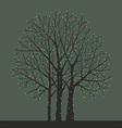 tree with Christmas light bulbs vector image vector image