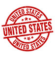 united states red round grunge stamp vector image