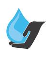 water hand design vector image