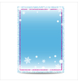 Winter vertical banner template with pink frame vector image vector image
