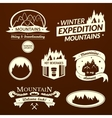 Mountain logo and label set vector image