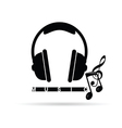 headphones with music notes vector image