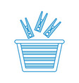 laundry basket with clothespin vector image