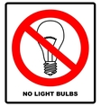 No Ban or Stop signs Light lamp icons vector image