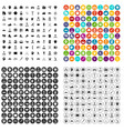 100 team player icons set variant vector image vector image