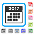 2017 calendar month table framed icon vector image vector image