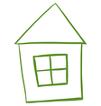 A green colored house vector image vector image
