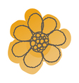 a view flower vector image vector image