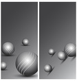 Abstract technology background with balls vector image vector image