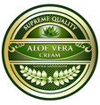 Aloe Vera Cream Label vector image vector image