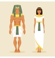 Ancient Egyptian man and a woman vector image