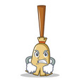 angry broom character cartoon style vector image vector image