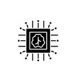 artificial intelligence technologies black icon vector image vector image