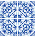 azulejos portuguese tile floor pattern lisbon vector image vector image