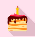 birthday cake icon flat style vector image