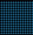blue and black lumberjack seamless pattern vector image vector image
