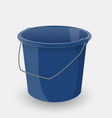 blue bucket isolated on a white background vector image