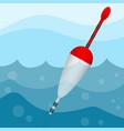 bobber in water vector image vector image