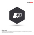 business graph icon hexa white background icon vector image