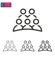 business meeting people line icon on white vector image