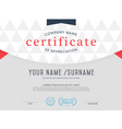 certificate template Vintage and Modern vector image vector image