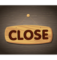 Close Wooden Sign Background vector image vector image
