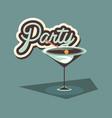 cocktail drink liquor beverage celebration party vector image vector image