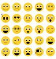 collection emoticon icons abstract emoji vector image vector image