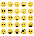 collection of emoticon icons abstract emoji vector image vector image