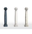 color marble stone columns realistic set vector image vector image