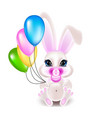 cute little rabbit vector image vector image