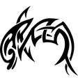 dolphin in tribal style vector image